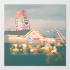 Let's Be Kids Again. Santa Monica pier ferris wheel  Canvas Print