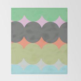 ALMA MULTICOLOR - Mid Century Modern Pattern Graphic Design Throw Blanket