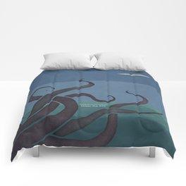 Jules Verne's Twenty Thousand Leagues Under the Sea - Minimalist literary design, literary gift Comforters