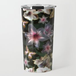 Amaryllis and Butterflies Travel Mug