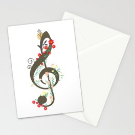 Floral sol key Stationery Cards