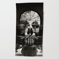 Room Skull B&W Beach Towel