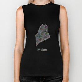 Maine map Biker Tank