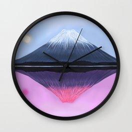 Two Fuji - Painting Wall Clock