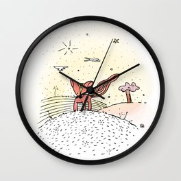 Little Prince Fox Wall Clock