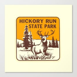 Hickory Run Camping Buck Deer PA Park Canvas Print