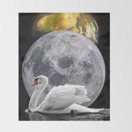 Planets Swan by GEN Z Throw Blanket