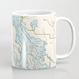 Vintage Muskoka Lakes Map Coffee Mug
