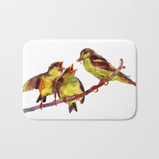 Sparrows kids and mum Bath Mat