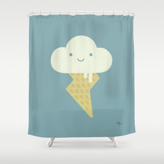 Stormy and Sweet Shower Curtain