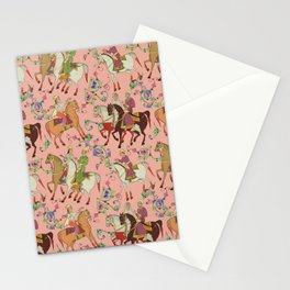 Horse Riding & Oriental Tribal Pattern Stationery Cards