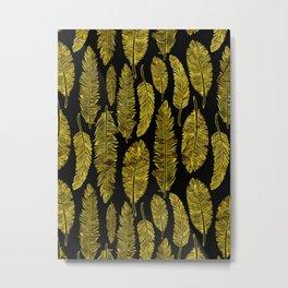 Golden feathers Metal Print
