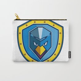 Blue Chicken Mohawk Shield Icon Carry-All Pouch