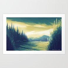 Oregon Field Art Print