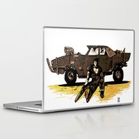 mad max Laptop & iPad Skins featuring MAD MAX by Gregory Casares