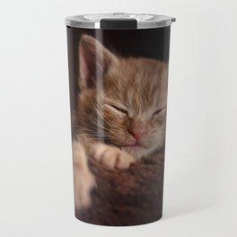 Sleepy cat Travel Mug