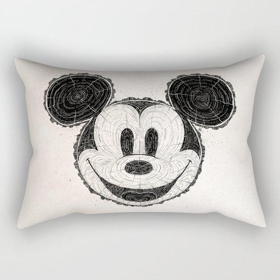 wooden Mickey Mouse Rectangular Pillow