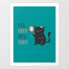 Catty Thoughts! Art Print