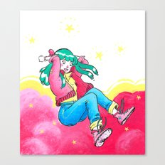 Pink Girl Canvas Print