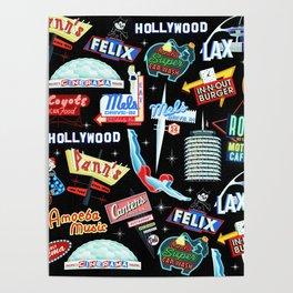 Vintage Signs Pattern #2 Poster