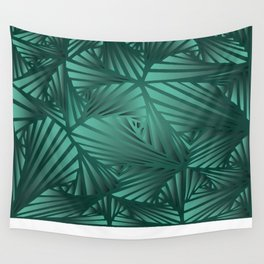 DOODLE GREEN PATTERN Wall Tapestry