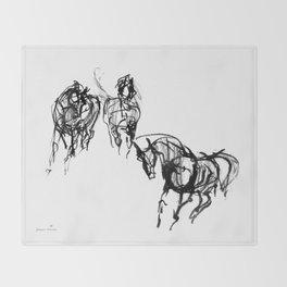 Horses (Trio) Throw Blanket