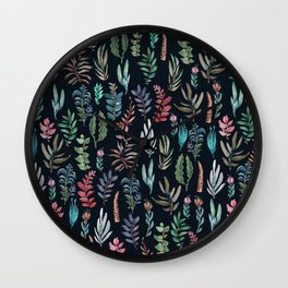water color leaves color leaves Wall Clock