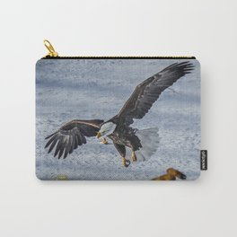 Eagle over deer Carry-All Pouch