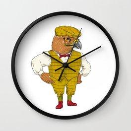 Hawk English Outdoorsman Drawing Wall Clock