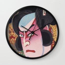 Toyohara Kunichika - The Actor Ichikawa Sadanji Wall Clock