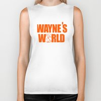 snl Biker Tanks featuring Waynes World logo SNL saturday night live 90s Funny Geek Nerd by jekonu