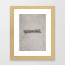 A Temporal Obstruction Framed Art Print