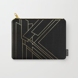 Gold Armor Letter K Carry-All Pouch