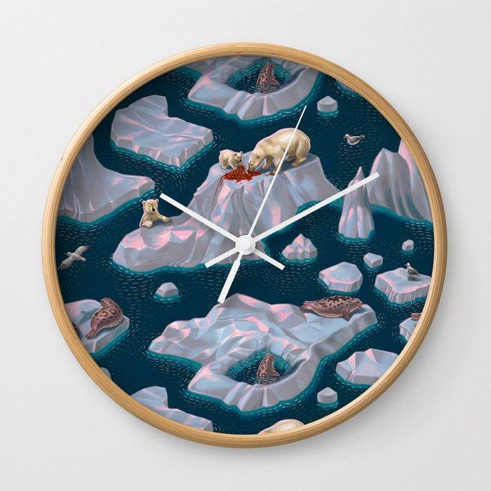 Icebergs Wall Clock