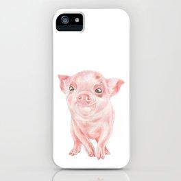 Baby Pig | Watercolour | Baby Animal Art | Animals iPhone Case