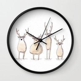 4 Chevreuils Wall Clock