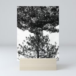 Tree Silhouette Black and White Mini Art Print