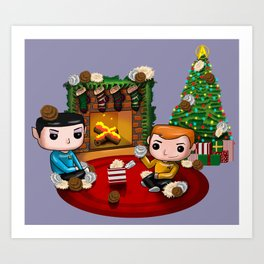 The Trouble with Christmas Art Print