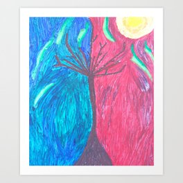 HOT AND COLD Art Print