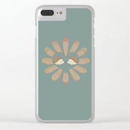 Hedge Hog Flower Power Clear iPhone Case