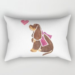 Watercolour American Cocker Spaniel Rectangular Pillow