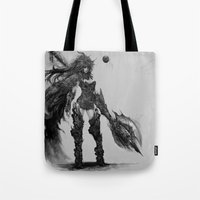 knight Tote Bags featuring knight by ururuty