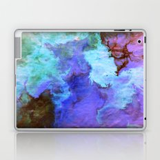 Fluid painting in blue and purple Laptop & iPad Skin