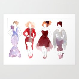 Outfits Art Print