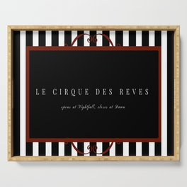 Night Circus Invitation Serving Tray