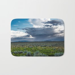 Desert Rain - Summer Thunderstorms Near Taos New Mexico Bath Mat