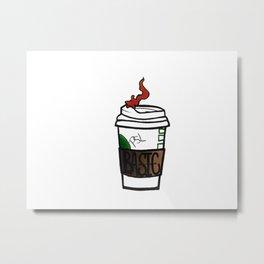 Basic Coffee Co. Metal Print