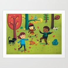 Fall Foliage Fun Art Print