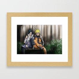 Brothers: Naruto and Sasuke Framed Art Print