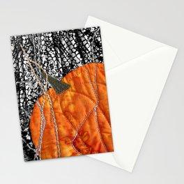 Pumpkin on black Stationery Cards